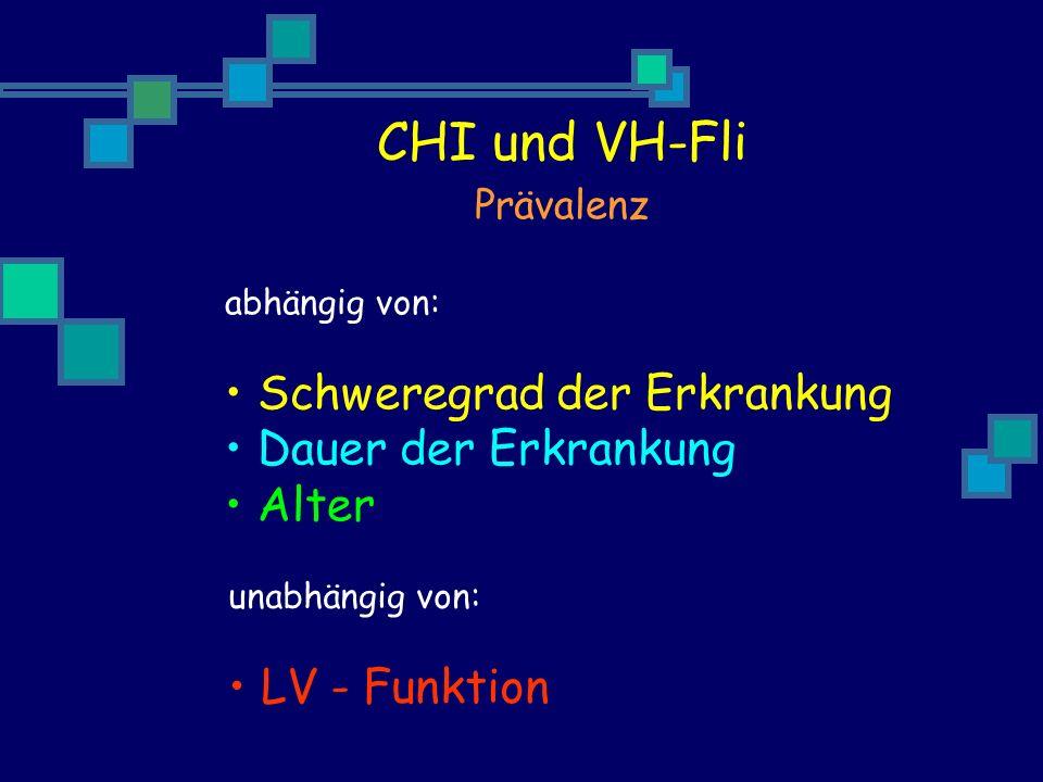 CHI und VH-Fli Schweregrad der Erkrankung Dauer der Erkrankung Alter