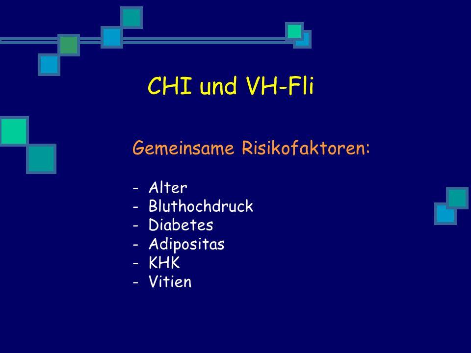 CHI und VH-Fli Gemeinsame Risikofaktoren: Alter Bluthochdruck Diabetes