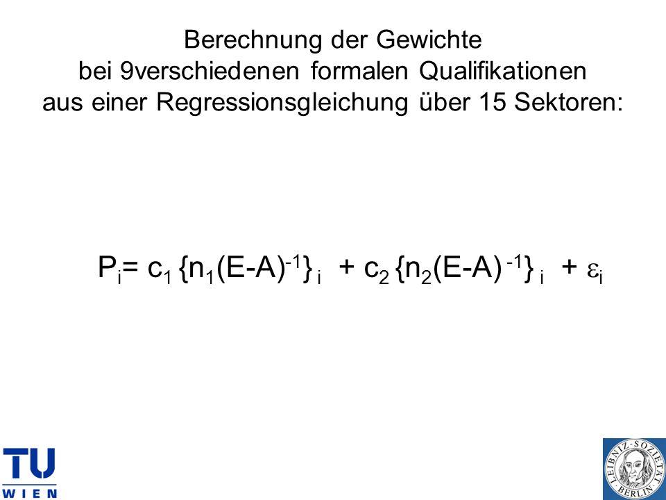 Pi= c1 {n1(E-A)-1} i + c2 {n2(E-A) -1} i + ei