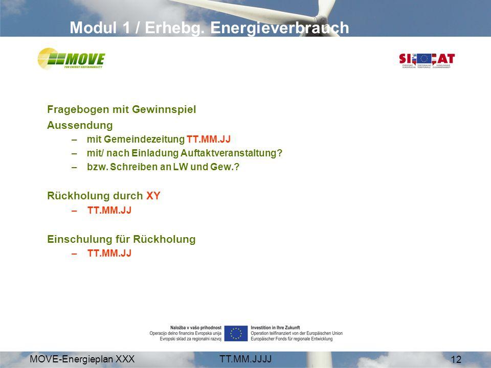 Modul 1 / Erhebg. Energieverbrauch