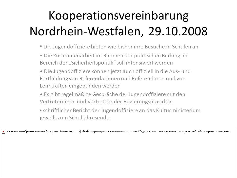 Kooperationsvereinbarung Nordrhein-Westfalen, 29.10.2008