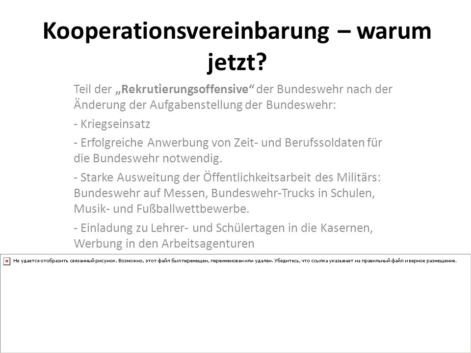 Kooperationsvereinbarung – warum jetzt