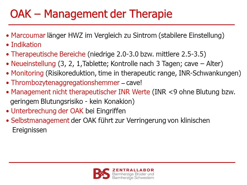 OAK – Management der Therapie