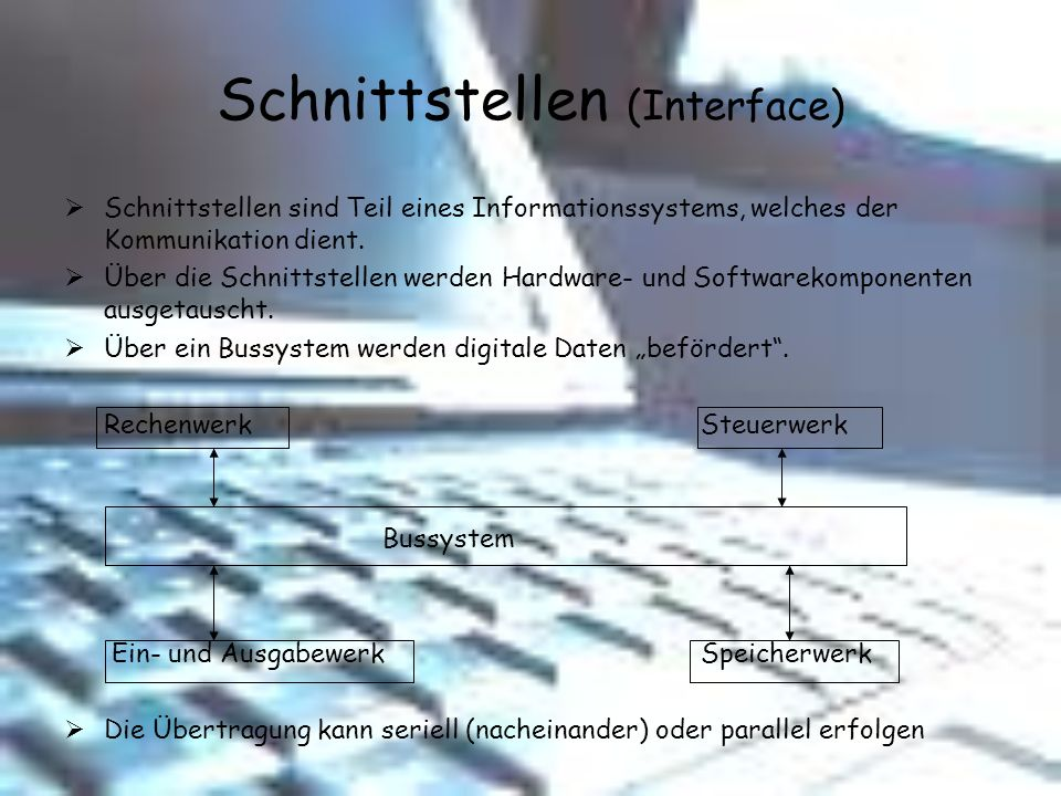 Schnittstellen (Interface)
