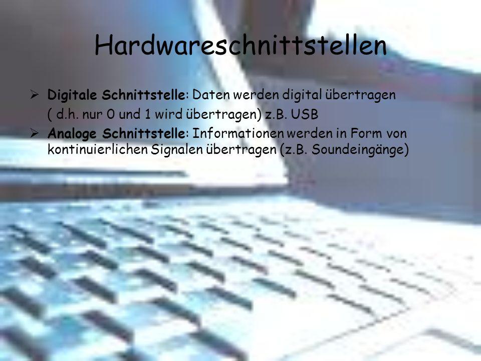 Hardwareschnittstellen
