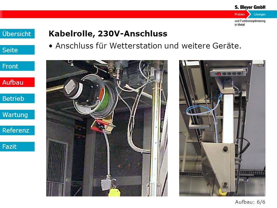 Kabelrolle, 230V-Anschluss