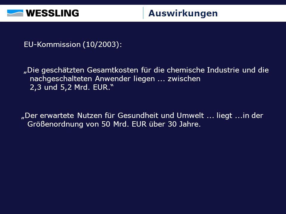 Auswirkungen EU-Kommission (10/2003):