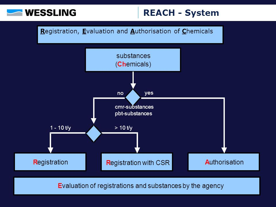 REACH - System substances ( Ch emicals) R egistration R