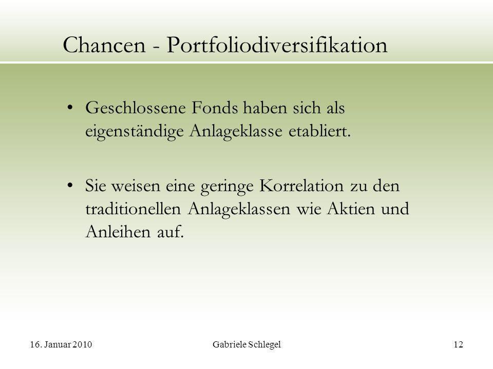 Chancen - Portfoliodiversifikation