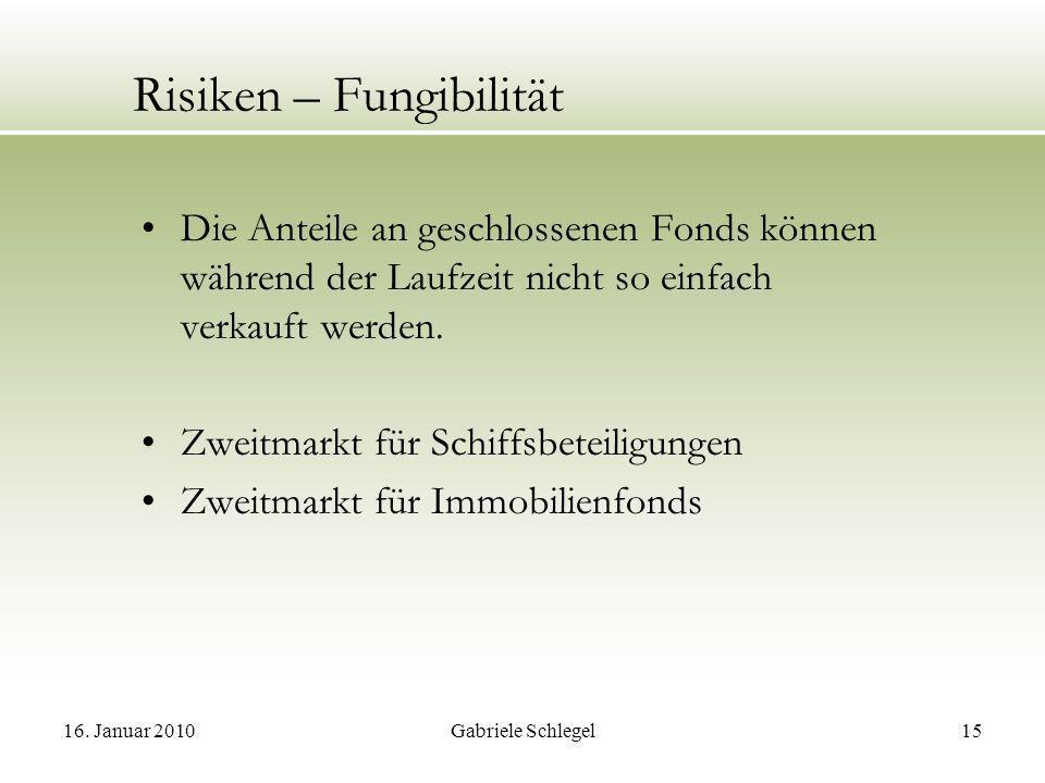 Risiken – Fungibilität