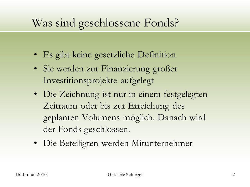 Was sind geschlossene Fonds