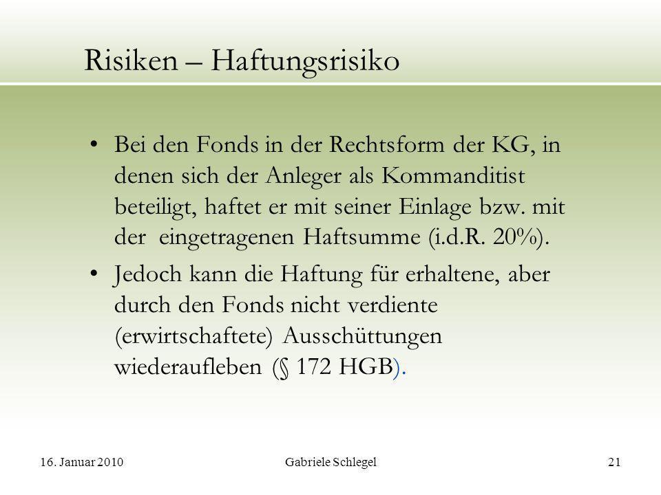 Risiken – Haftungsrisiko