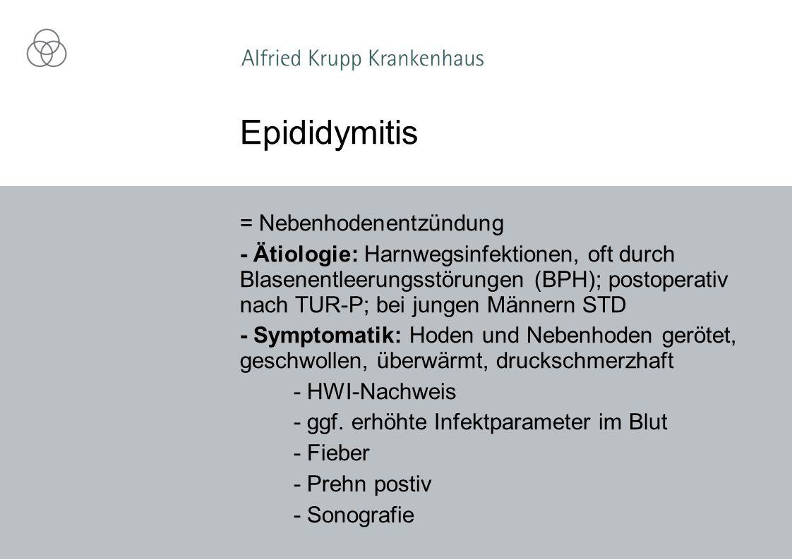 Epididymitis = Nebenhodenentzündung