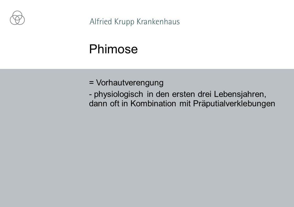 Phimose = Vorhautverengung