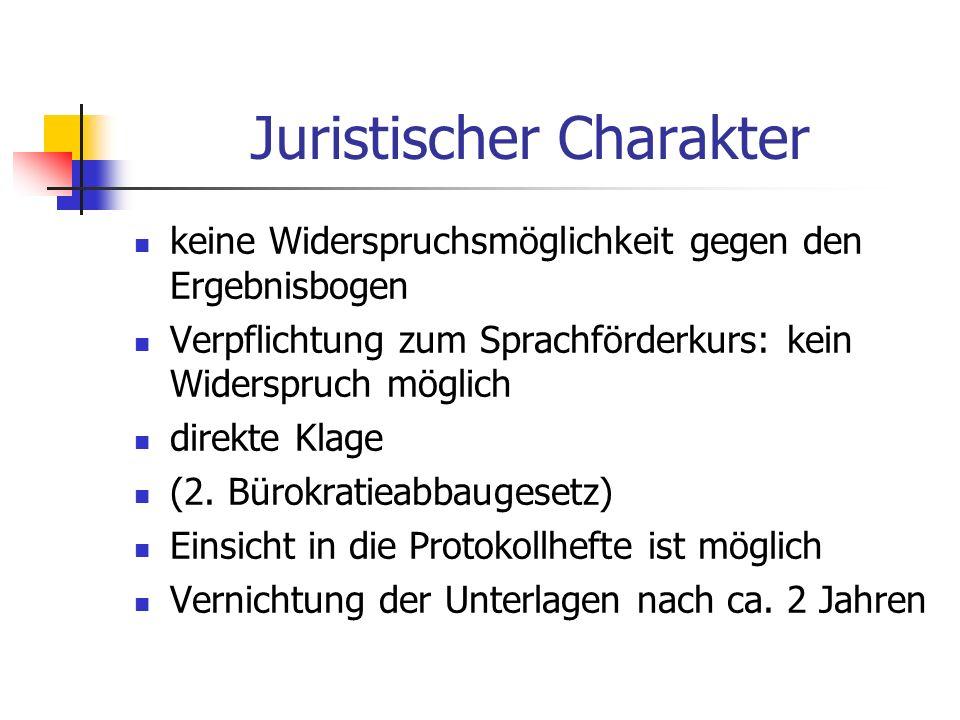 Juristischer Charakter