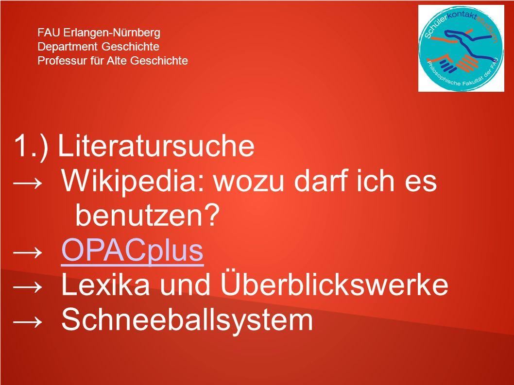 → Wikipedia: wozu darf ich es benutzen → OPACplus