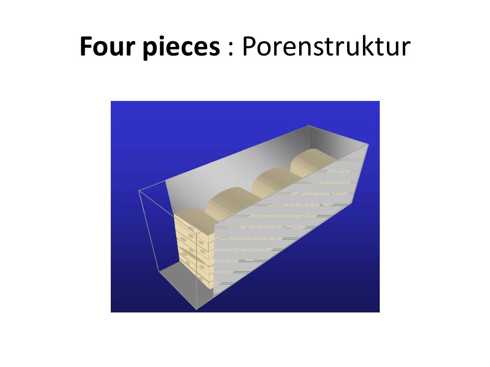 Four pieces : Porenstruktur