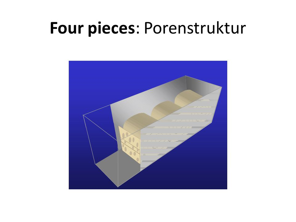 Four pieces: Porenstruktur