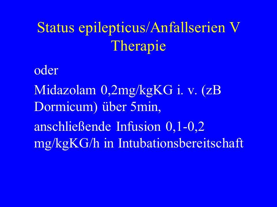 Status epilepticus/Anfallserien V Therapie