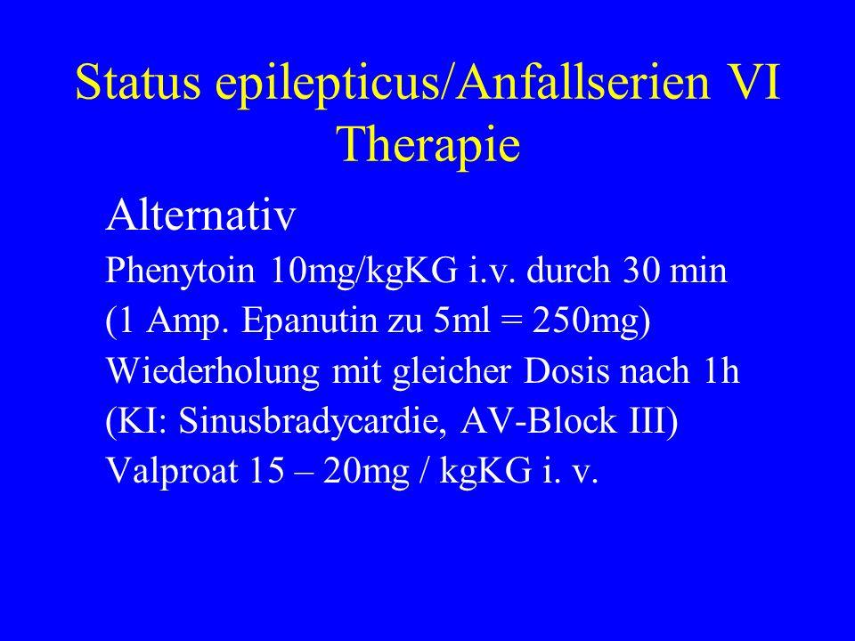 Status epilepticus/Anfallserien VI Therapie