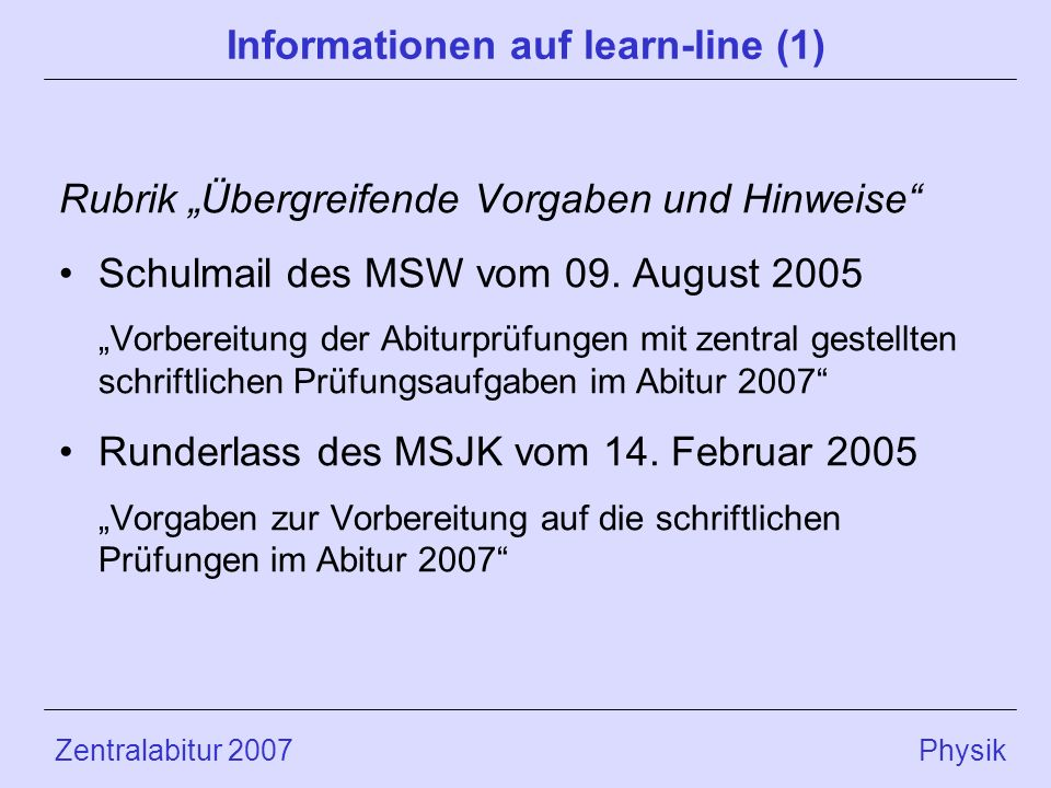 Informationen auf learn-line (1)
