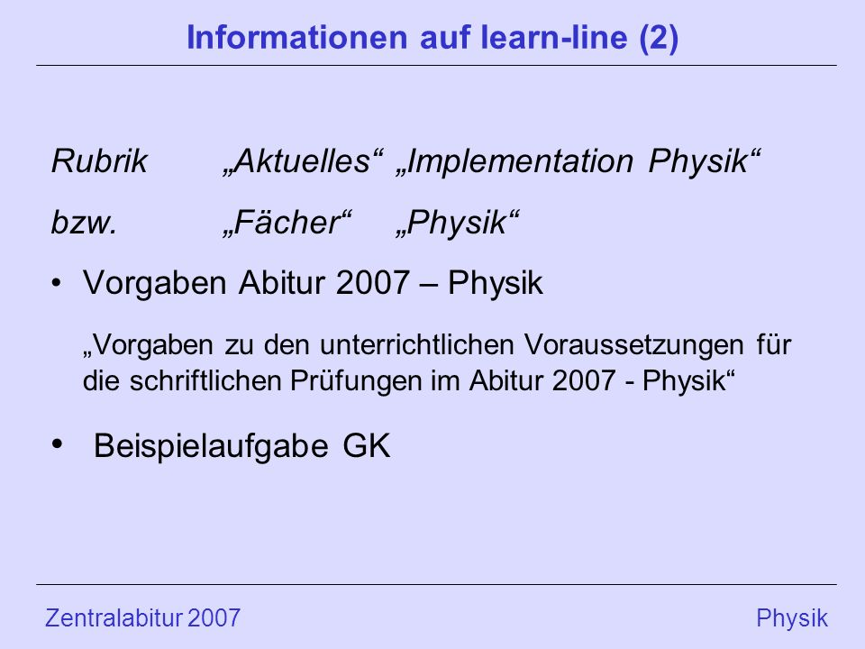 Informationen auf learn-line (2)