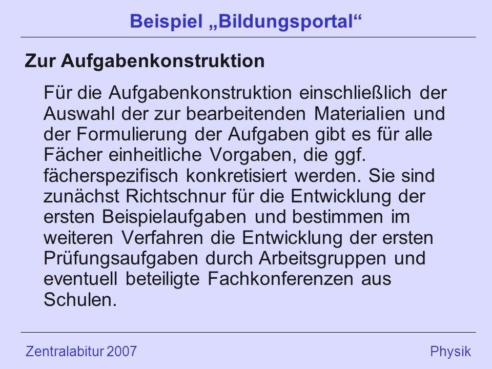 """Beispiel """"Bildungsportal"""