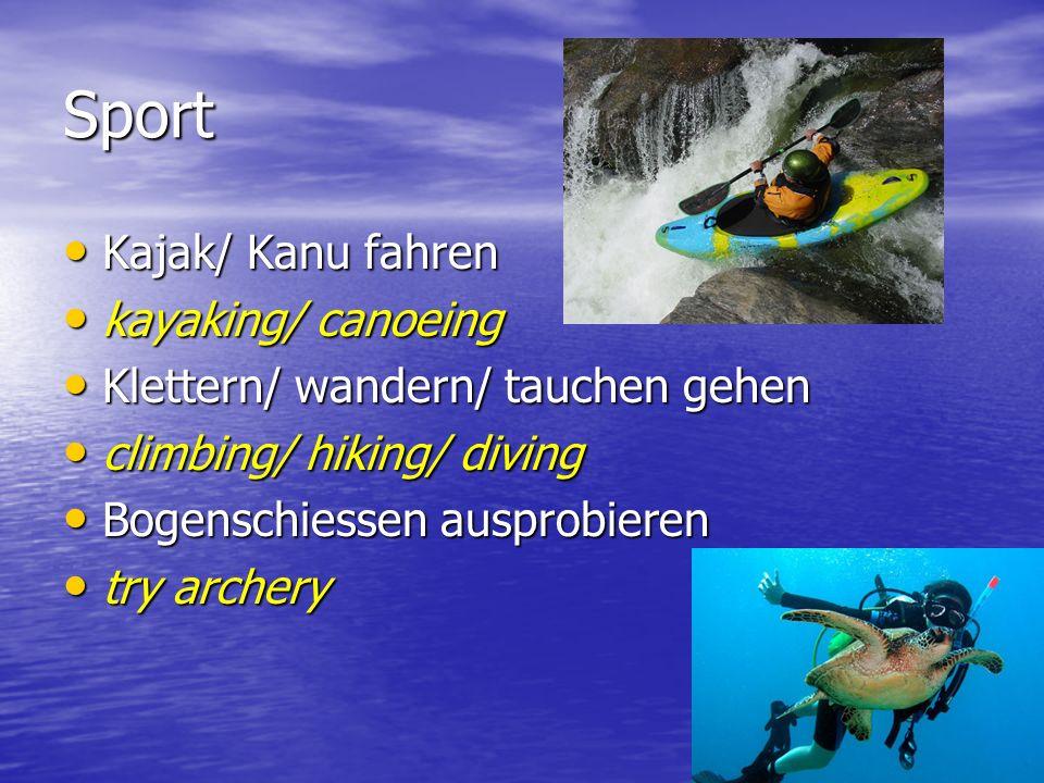 Sport Kajak/ Kanu fahren kayaking/ canoeing