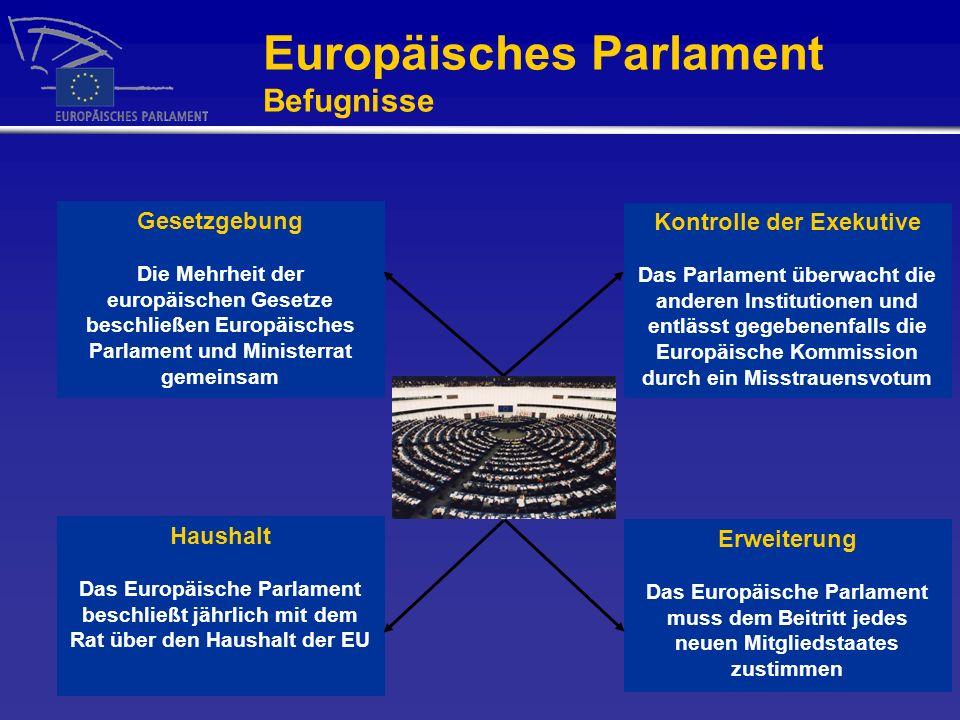 Europäisches Parlament Befugnisse
