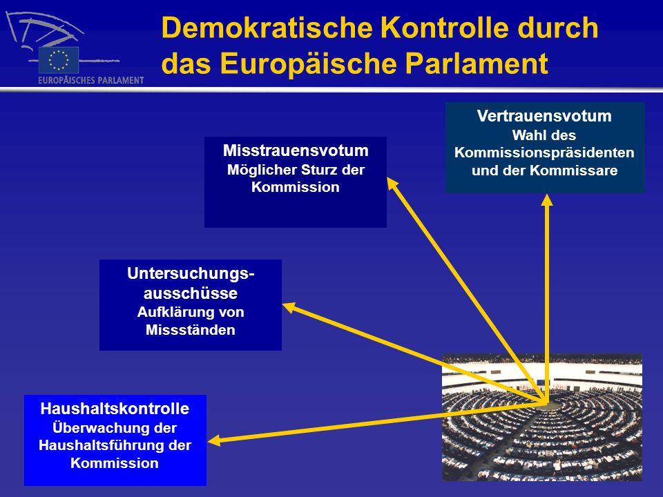 Demokratische Kontrolle durch das Europäische Parlament