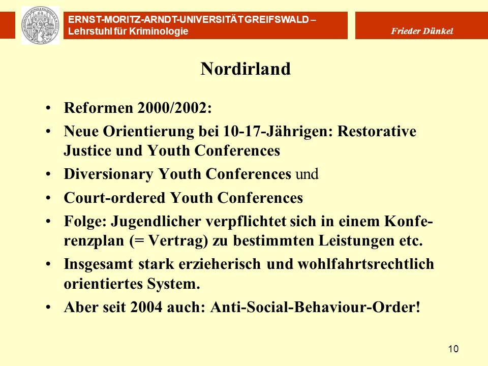 Nordirland Reformen 2000/2002:
