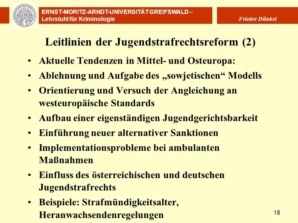 Leitlinien der Jugendstrafrechtsreform (2)