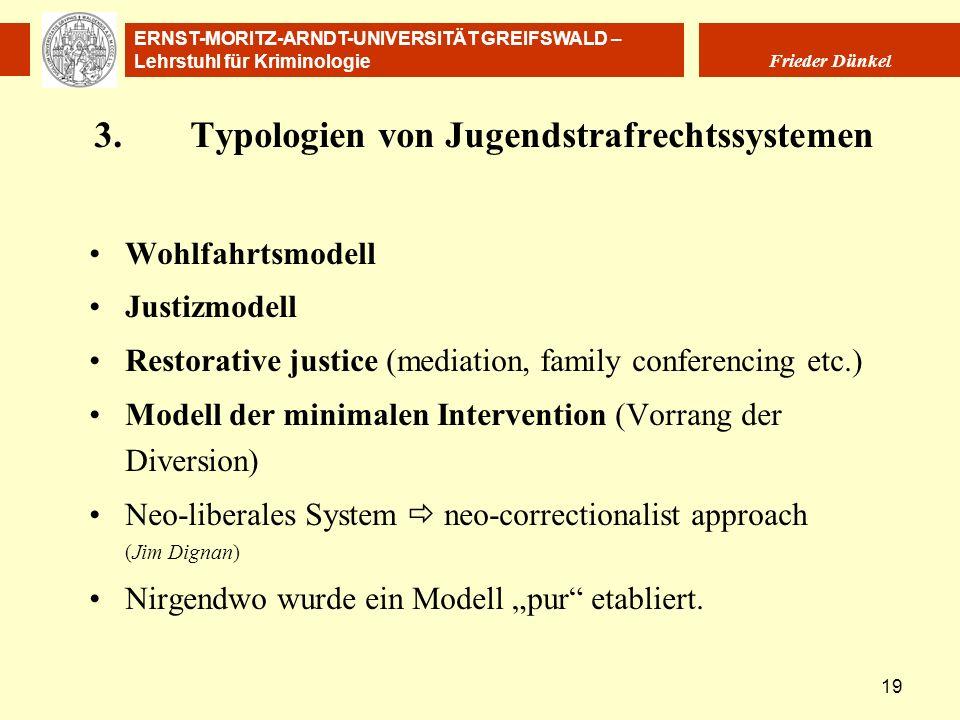 3. Typologien von Jugendstrafrechtssystemen