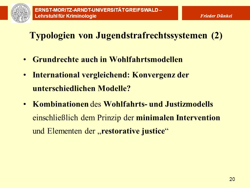 Typologien von Jugendstrafrechtssystemen (2)