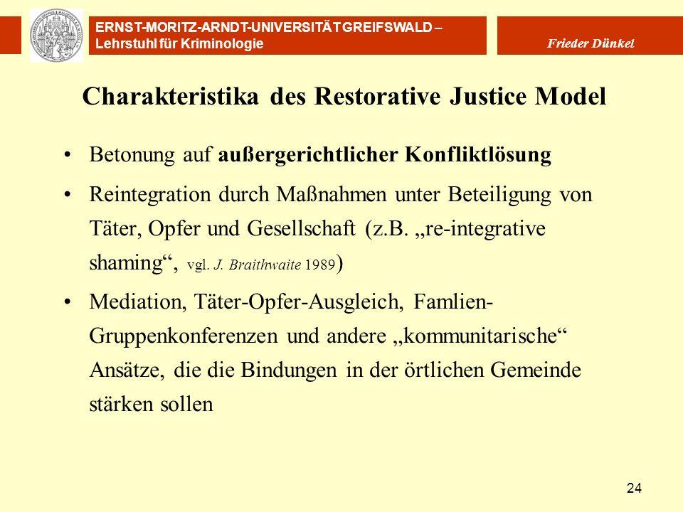 Charakteristika des Restorative Justice Model