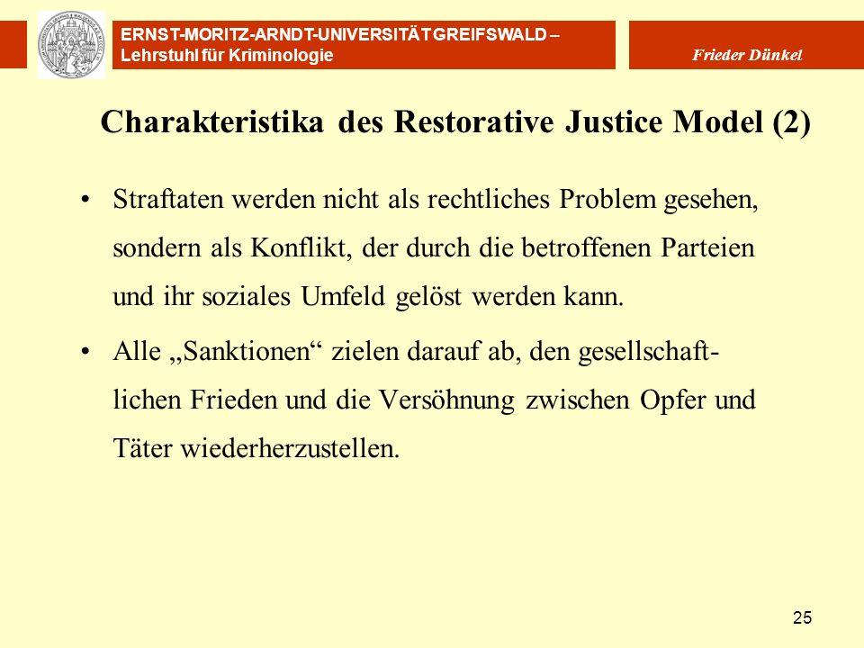 Charakteristika des Restorative Justice Model (2)