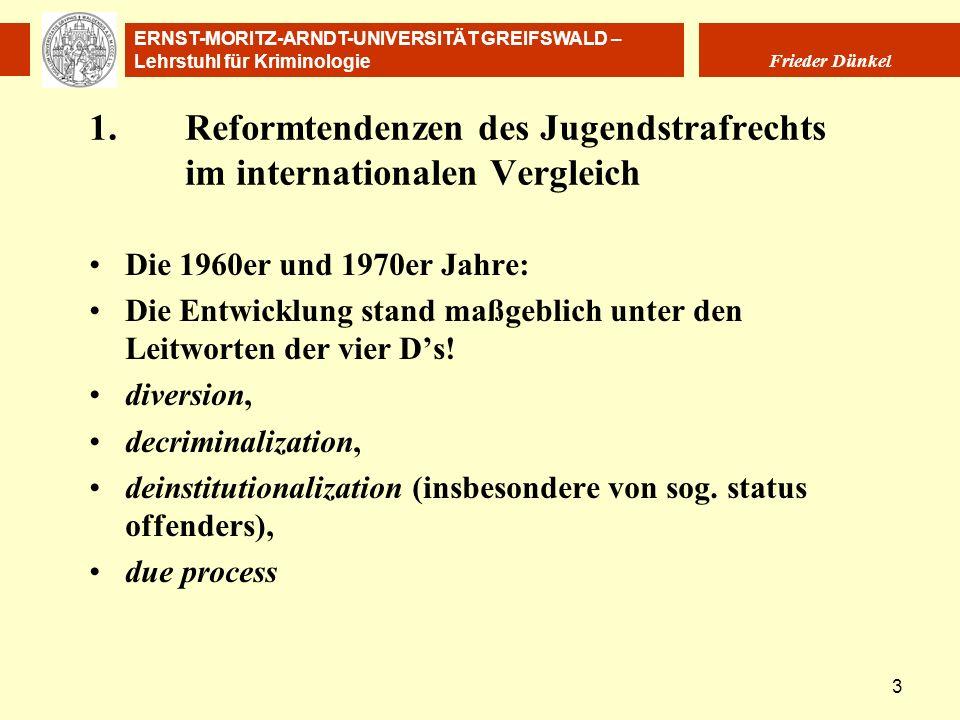 1. Reformtendenzen des Jugendstrafrechts im internationalen Vergleich