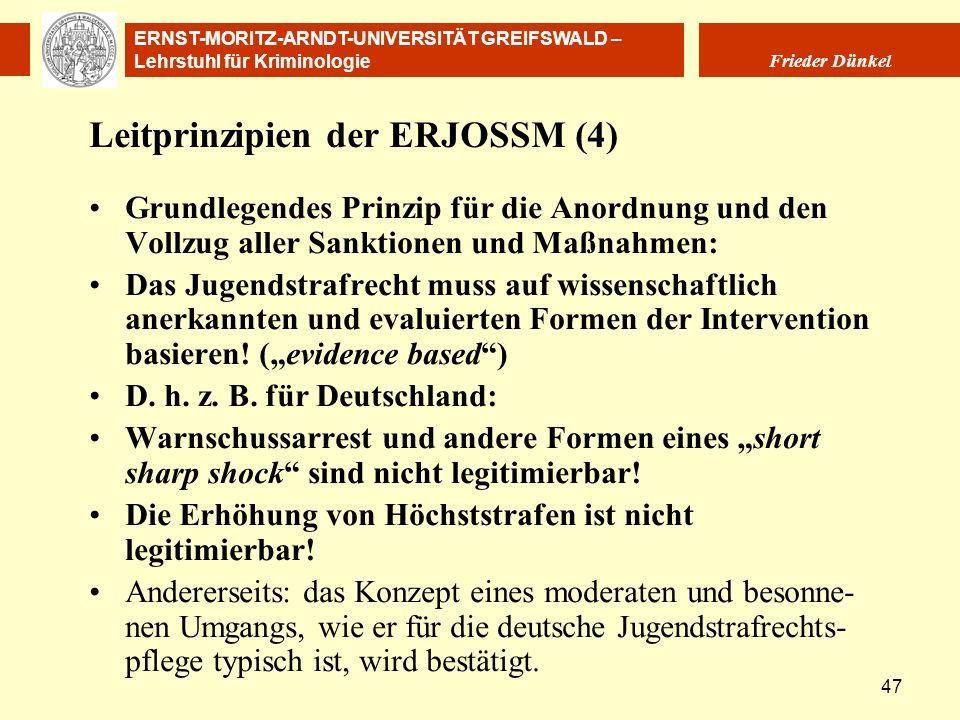 Leitprinzipien der ERJOSSM (4)