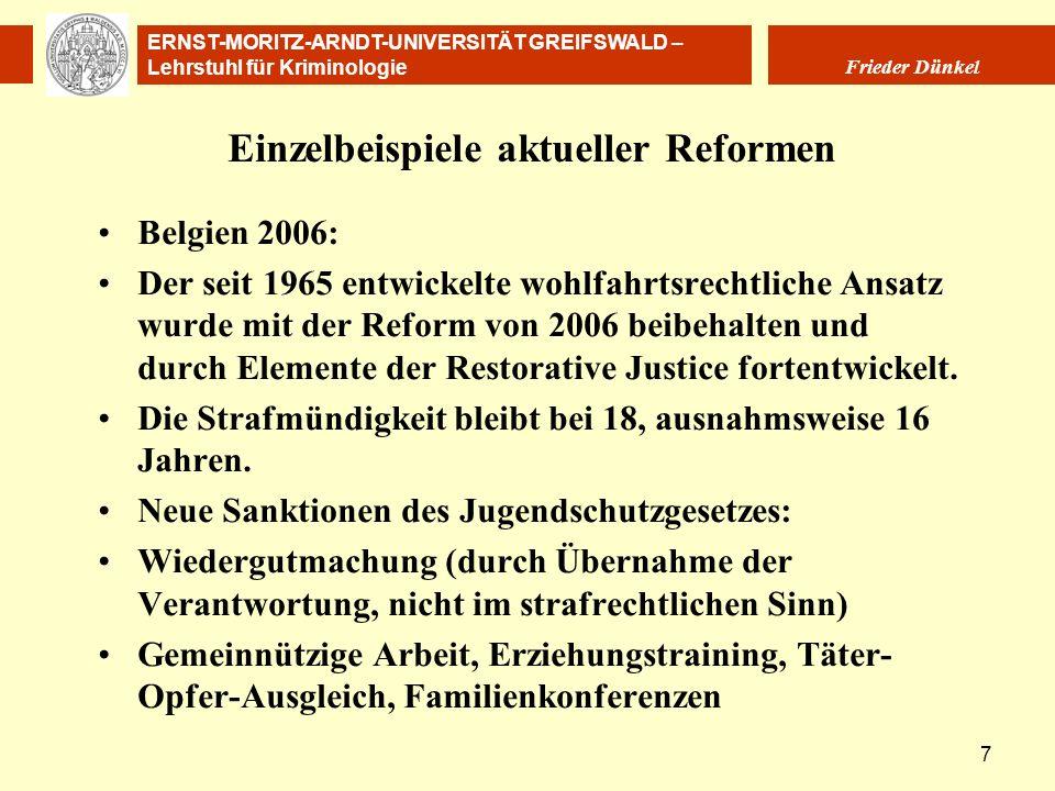 Einzelbeispiele aktueller Reformen