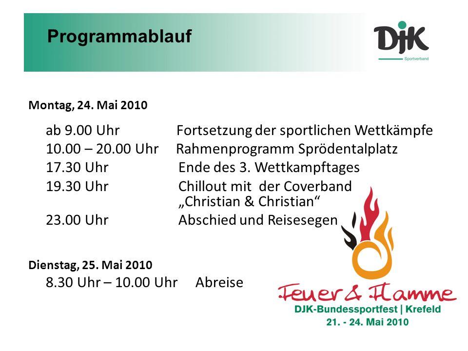 Programmablauf 10.00 – 20.00 Uhr Rahmenprogramm Sprödentalplatz