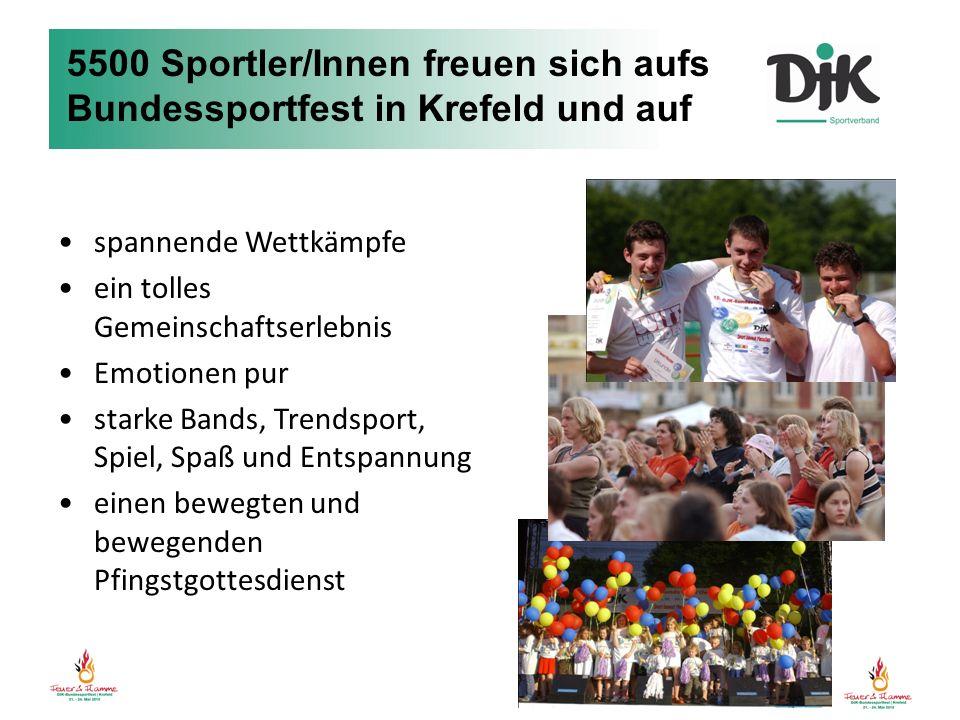 5500 Sportler/Innen freuen sich aufs Bundessportfest in Krefeld und auf