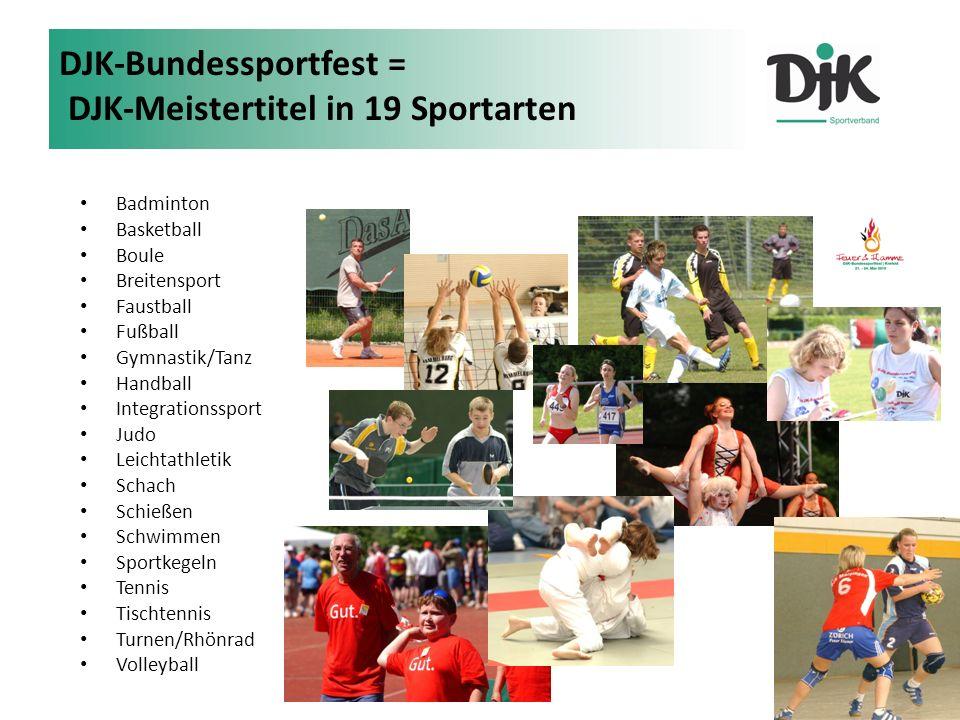 DJK-Bundessportfest = DJK-Meistertitel in 19 Sportarten