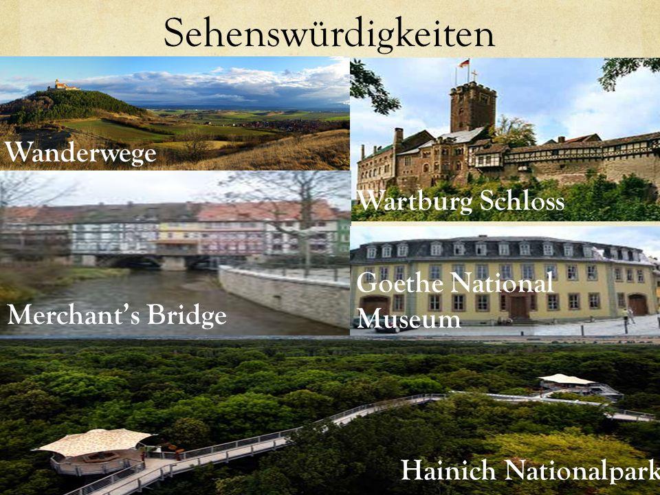 Sehenswürdigkeiten Wanderwege Wartburg Schloss Goethe National Museum