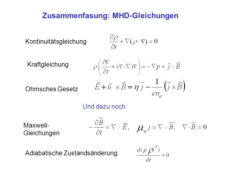 Zusammenfasung: MHD-Gleichungen