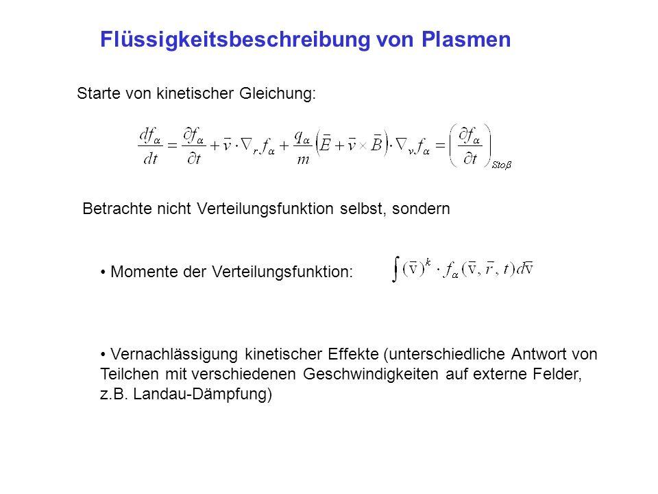 Flüssigkeitsbeschreibung von Plasmen