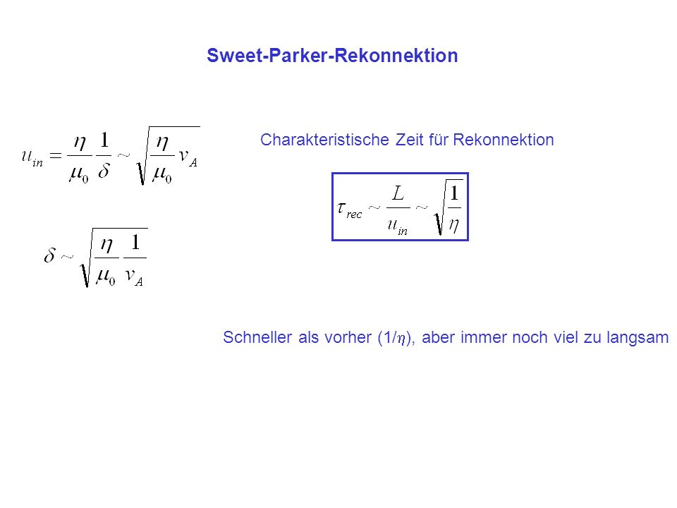 Sweet-Parker-Rekonnektion