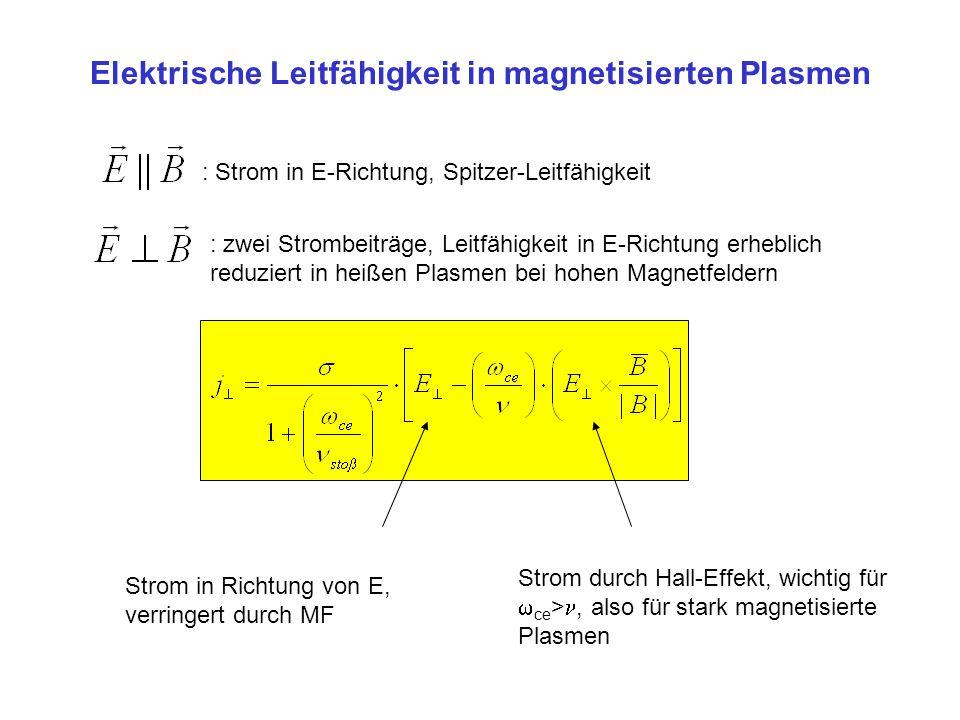 Elektrische Leitfähigkeit in magnetisierten Plasmen