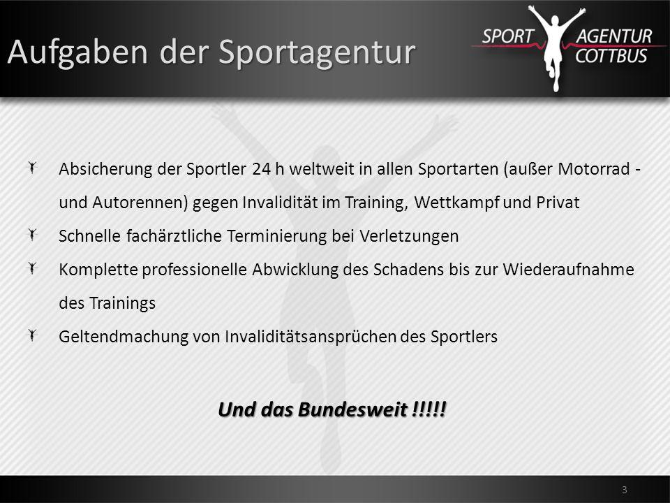 Aufgaben der Sportagentur