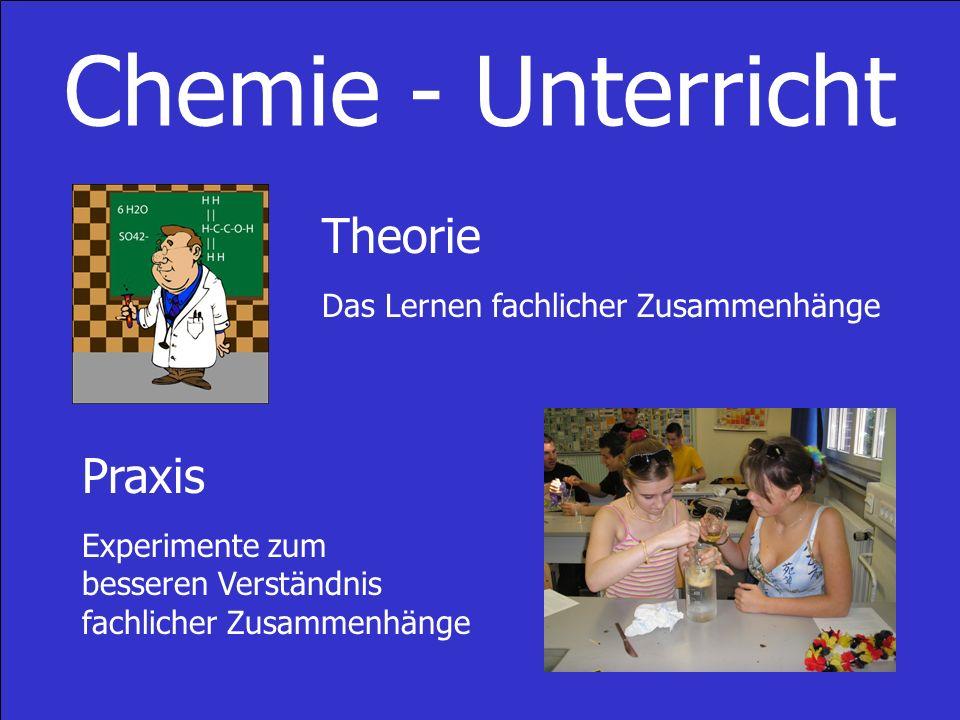 Chemie - Unterricht Theorie Praxis Das Lernen fachlicher Zusammenhänge