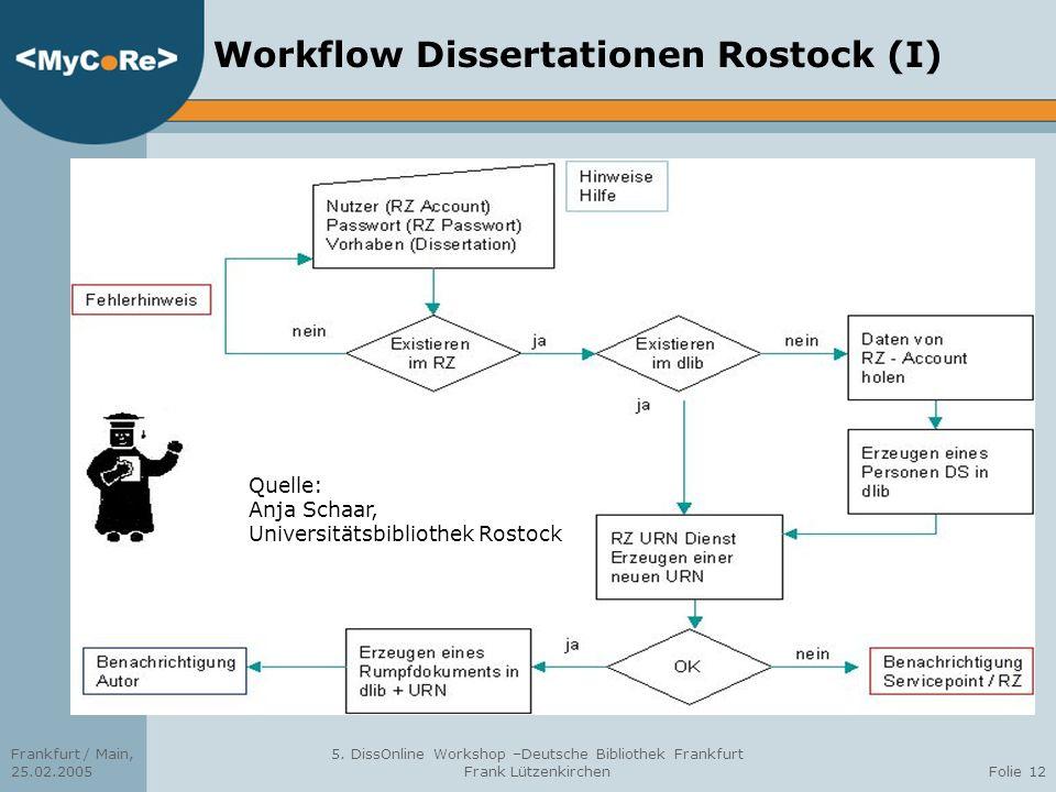 Workflow Dissertationen Rostock (I)